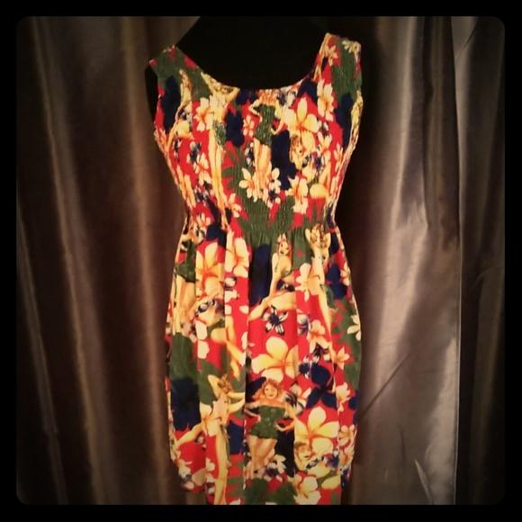 46cb9acd5b95 Vintage Dresses | Pinup Girl Hawaiian Dress Xl Tiki Luau | Poshmark